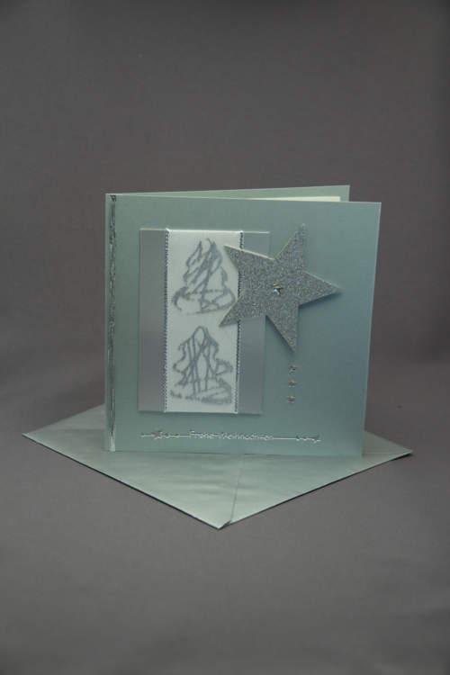 Weihnachtskarte silber inkl. Couvert