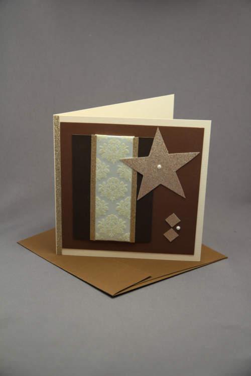 Weihnachtskarte braun beige