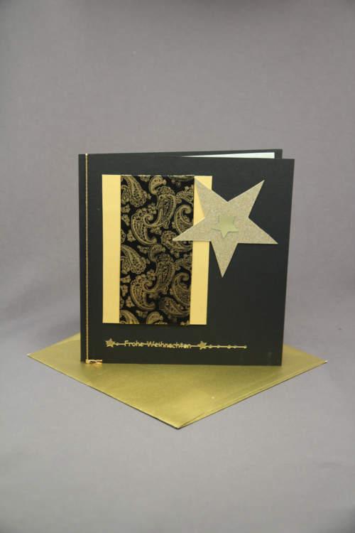 Weihnachtskarte gold schwarz