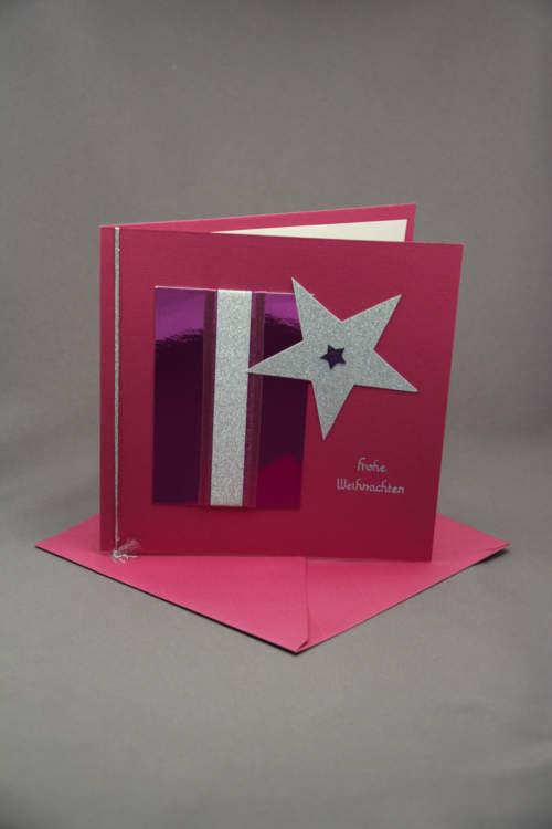 Weihnachtskarten pink