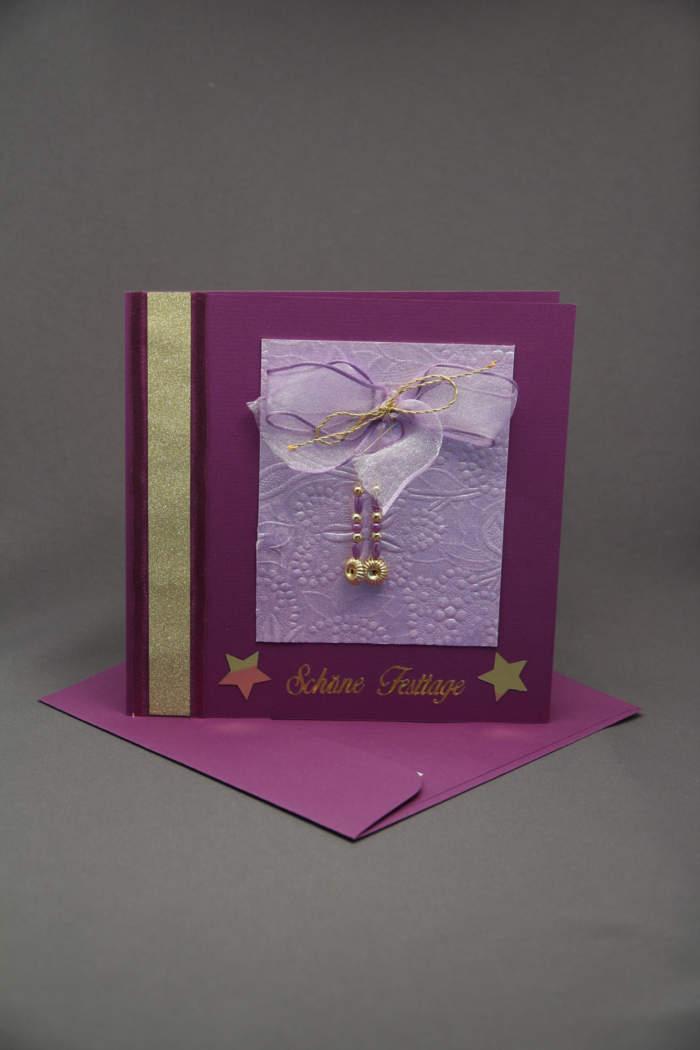 Weihnachtskarte violett
