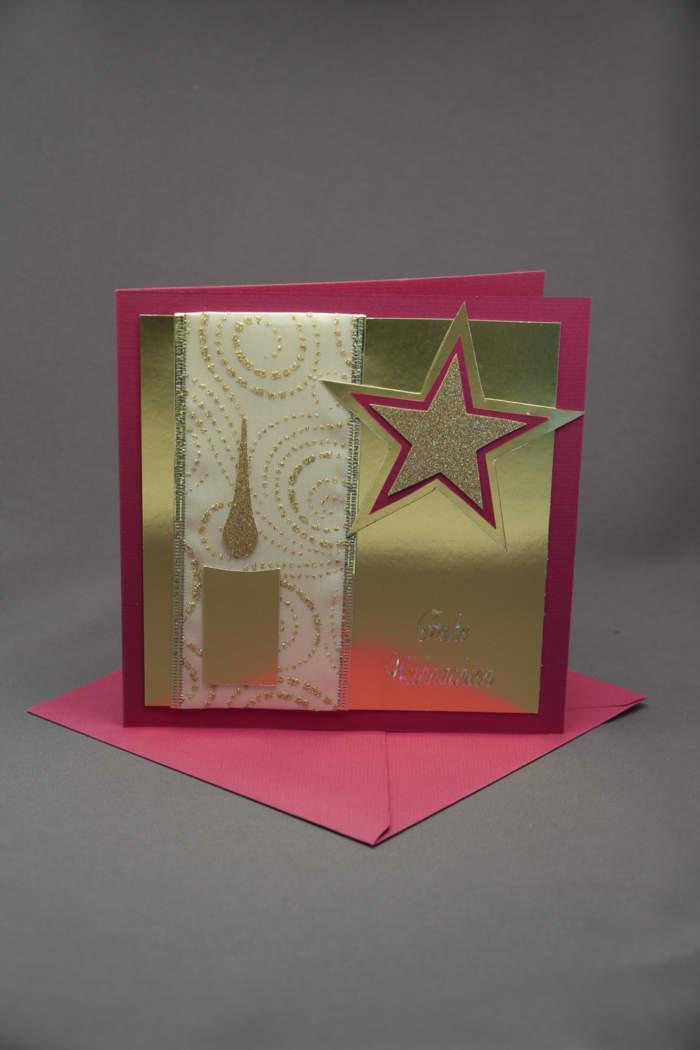 Weihnachtskarte mit Gold