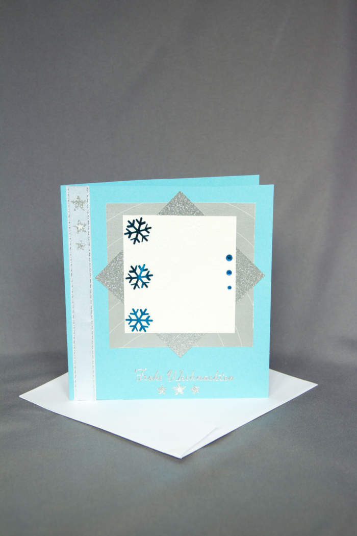 Weihnachtskarte aus Recycling-Material