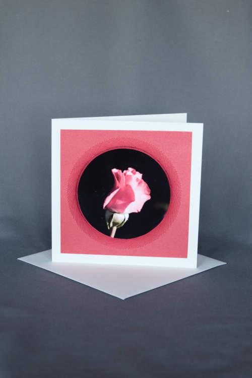 Elegante Hochzeitskarte mit Rose